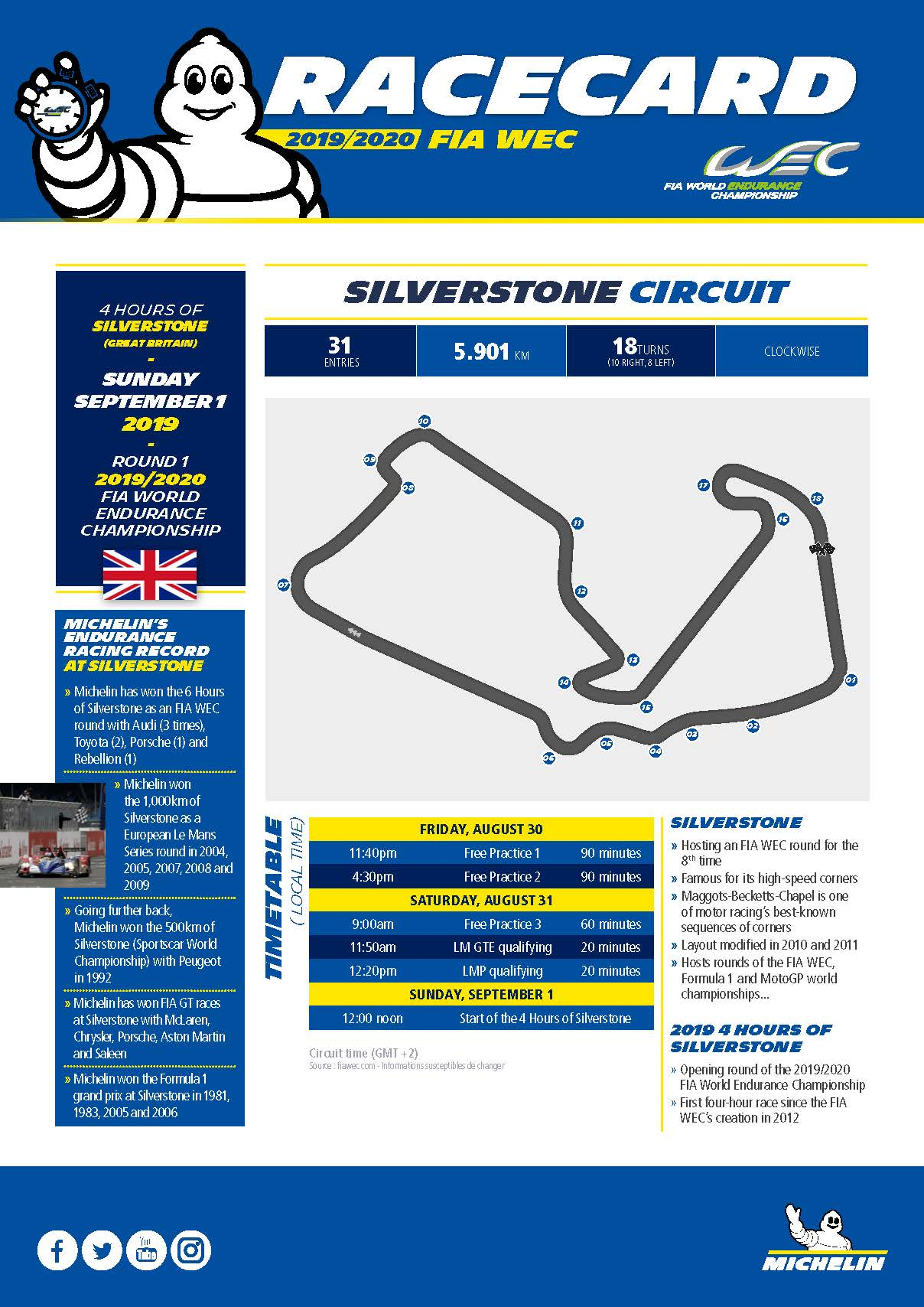 Michelin_Racecard_WEC_Silverstone_2019_GB_Page_1