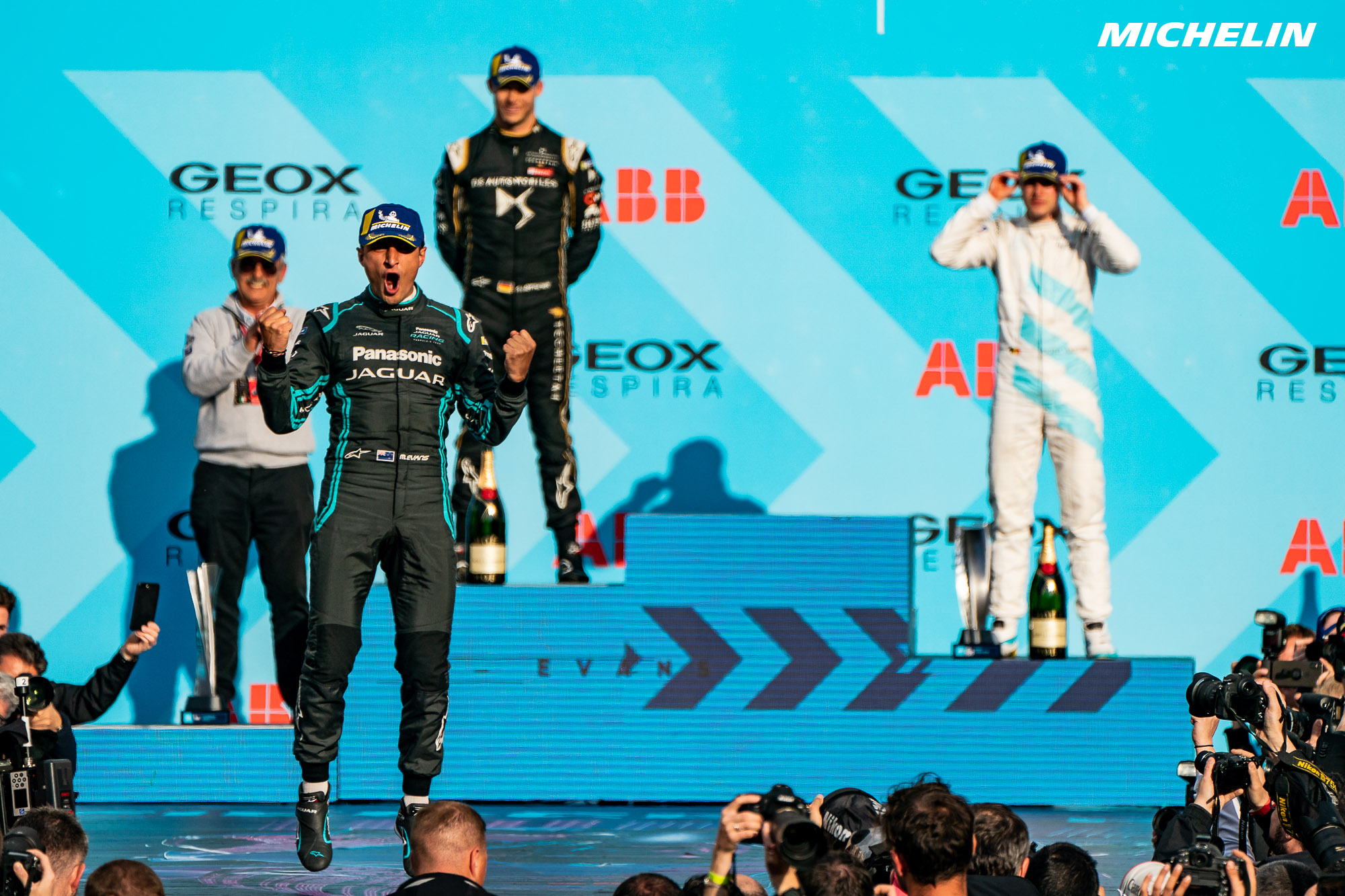 Maiden Formula E wins for Jaguar and Evans