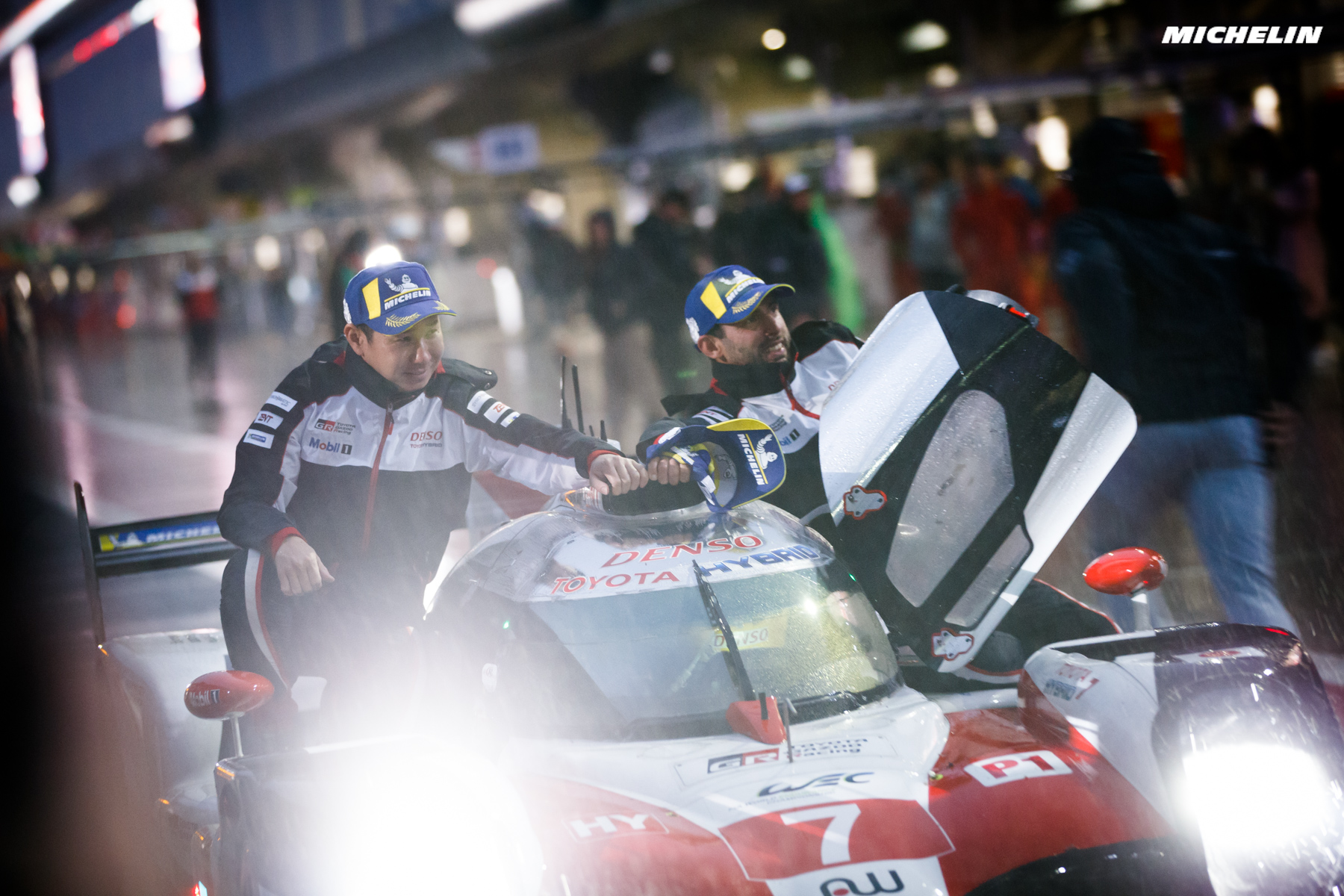 Toyota and Michelin win in rainy Shanghai