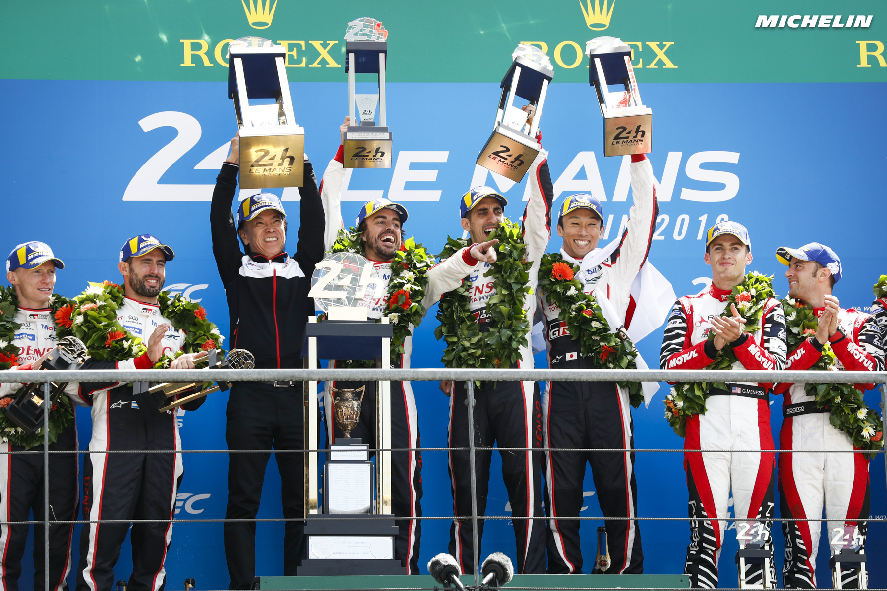 Toyota/Michelin tastes Le Mans glory at last!